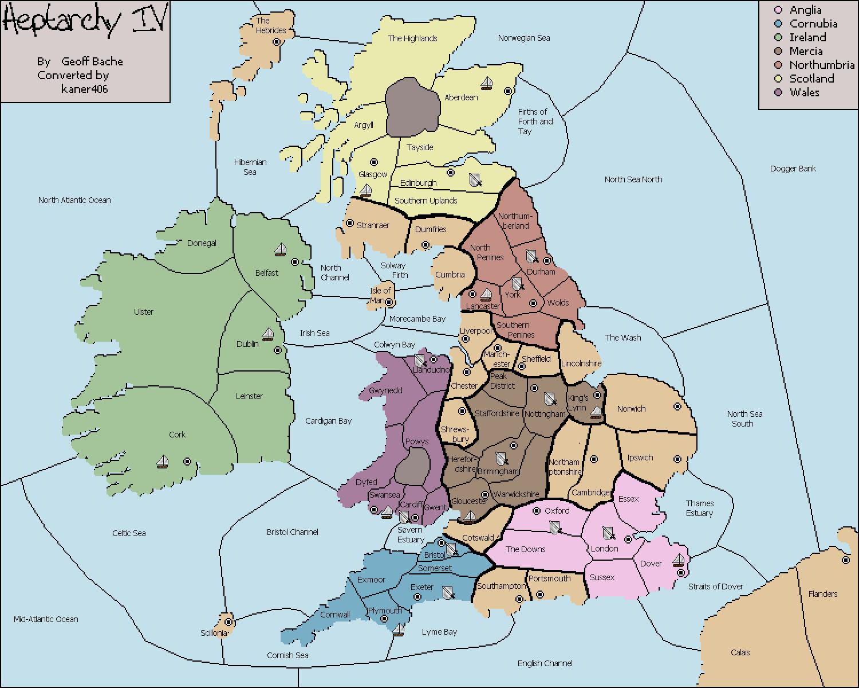 Map Of England Northumbria.Variants Vdiplomacy